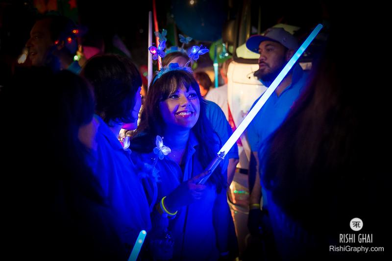 Glow wands were mandatory accessories!