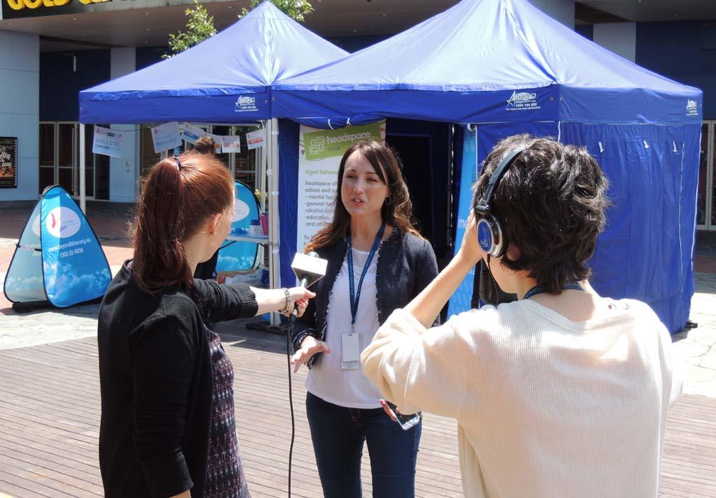 EMML CEO Kristen Michaels is interviewed at Knox Ozone, Westfield Knox