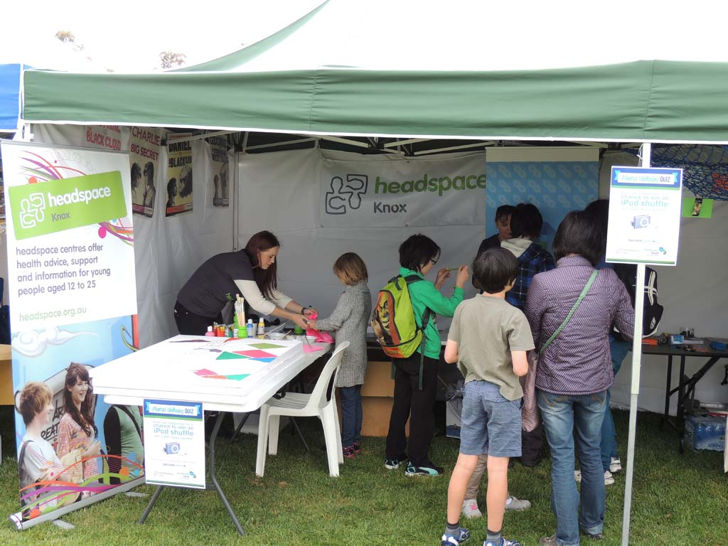 The Roadshow teamed up with headspace Knox at Maroondah Festival