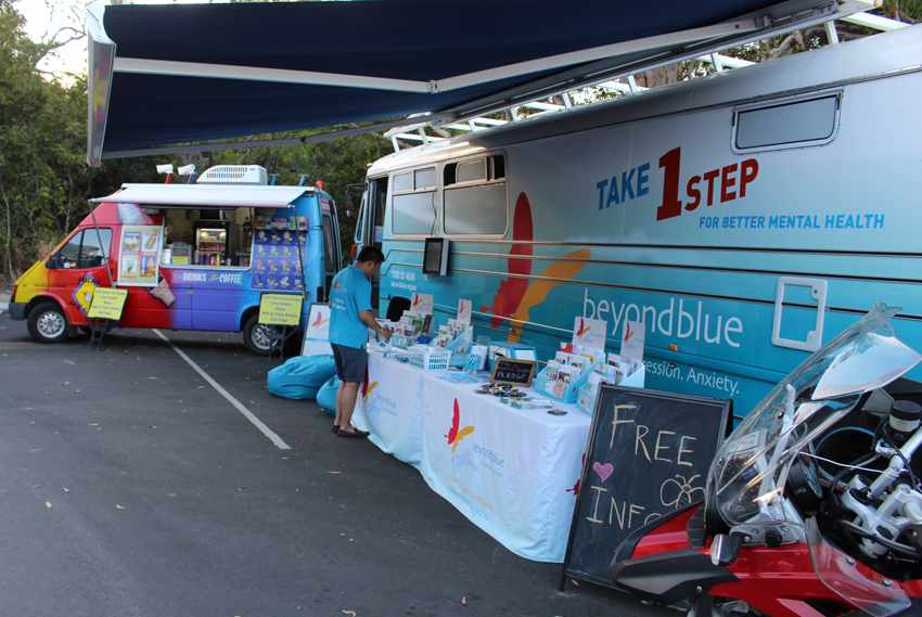 All set up for the Palm Cove Night Markets.