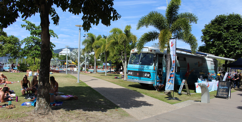 Beautiful weather at the Cairns Esplanade Market.