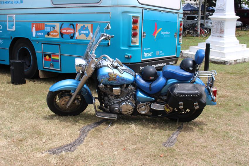 A fellow blue machine pulls up in Port Douglas!