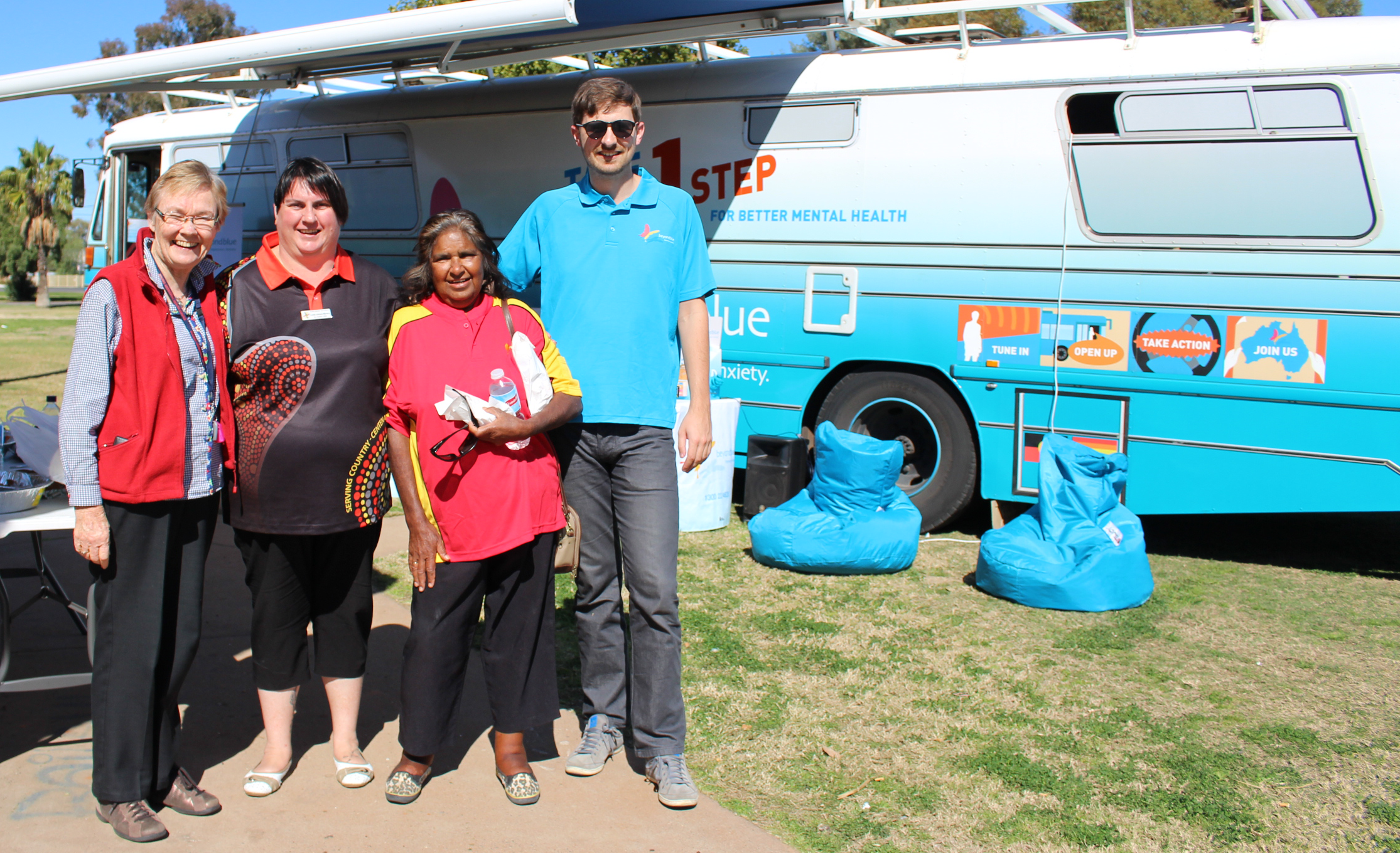 Working with services in Bourke at the community barbecue.