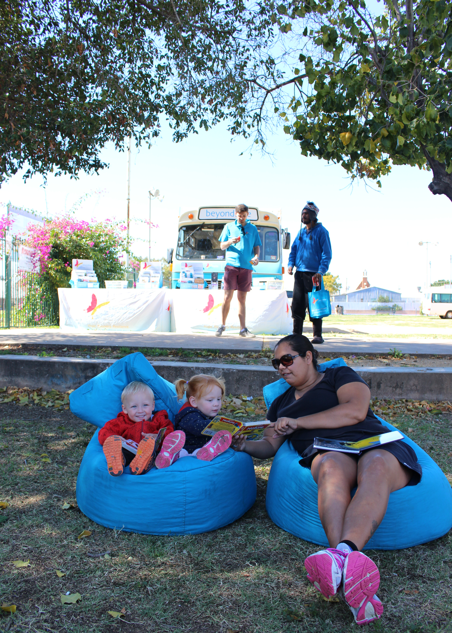 Brewarrina's youngest residents got involved when the big blue bus came to town.