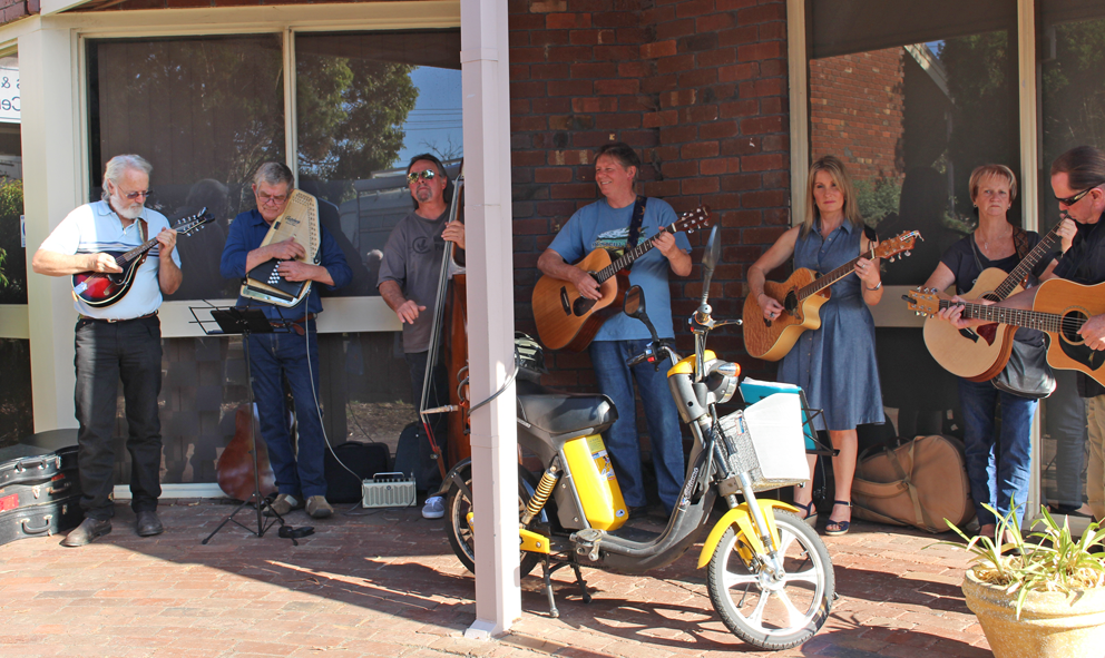Good tunes at the Young Veterans & Families Wellbeing Centre.