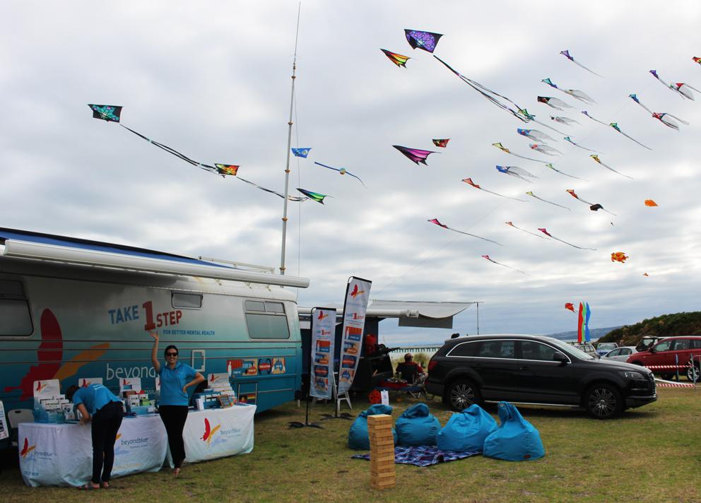 The sky was full of kites at Rosebud Kite Festival.