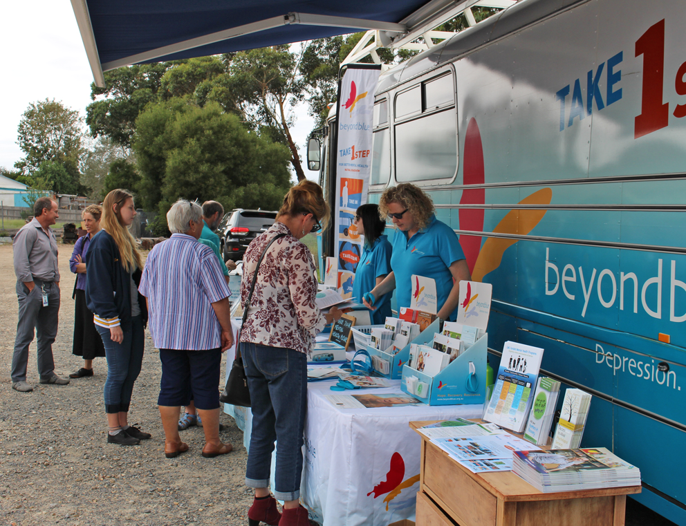 Providing free information in Orbost.