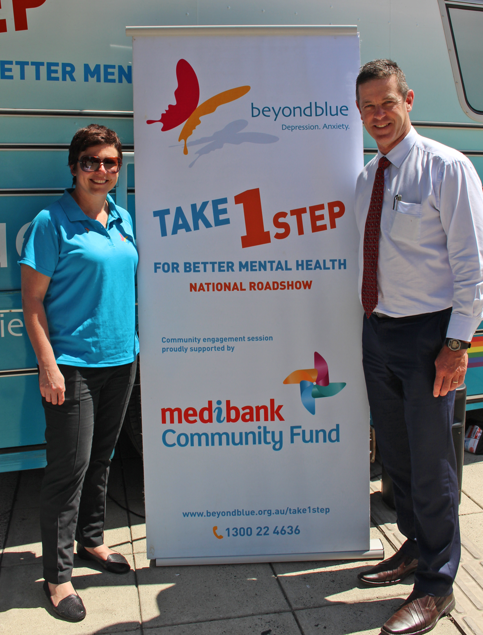 CEO Georgie Harman with Member for Morwell Russell Northe in Traralgon.