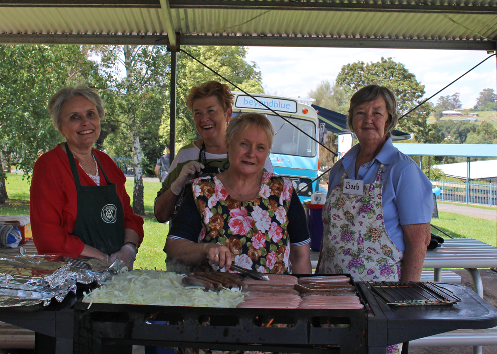 The CWA ladies cooked up a great barbecue for Neerim District Secondary College students.