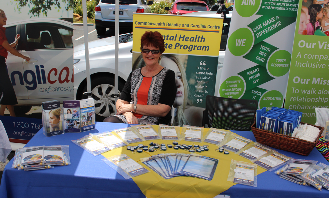 Information on offer at the health expo in Upper Coomera.