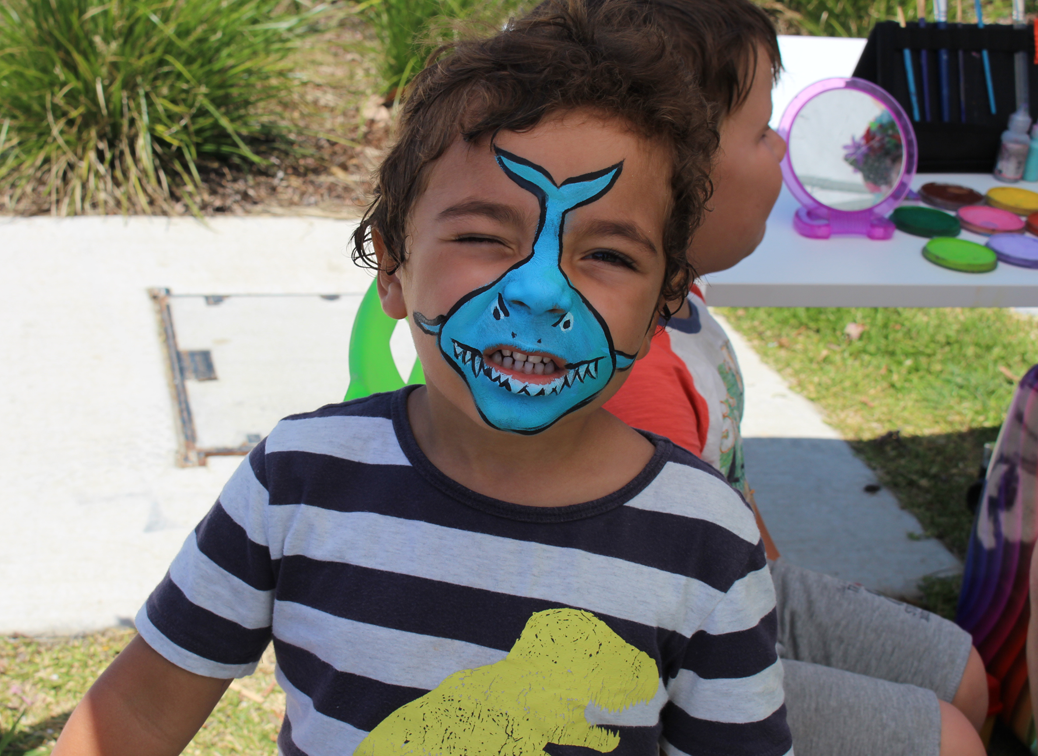 Face painting fun at Upper Coomera Community Centre.