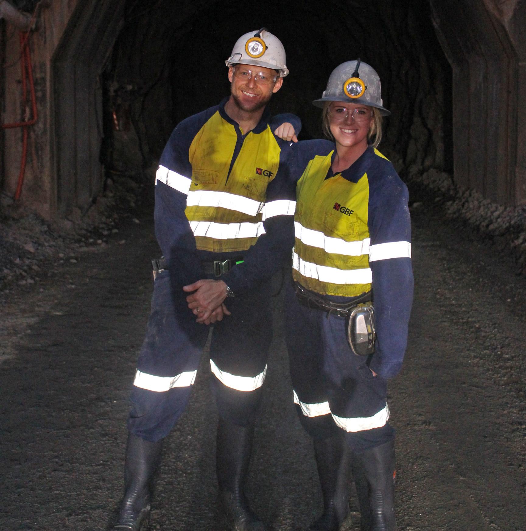 Beyond Blue's Jason and Bron toured underground in Kalgoorlie.