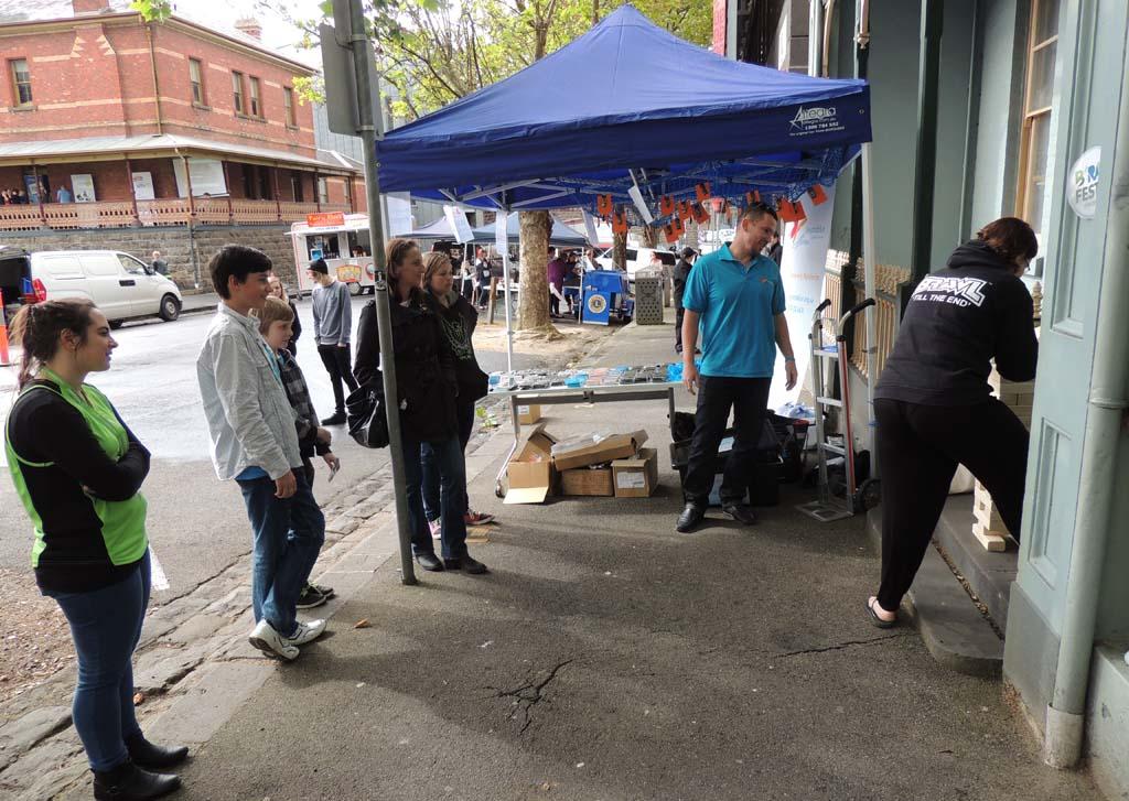 Keen observers at B'RAT FEST, Ballarat