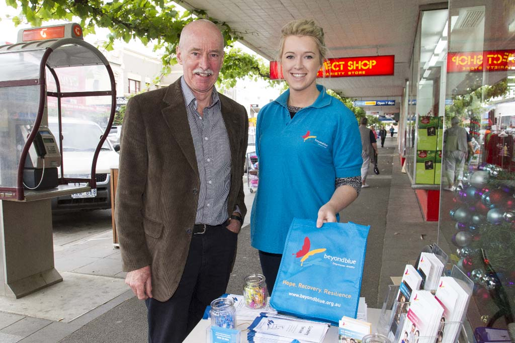 Grampians Medicare Local Mental Health Team Leader Barry Sherwell and Beyond Blue's Bron