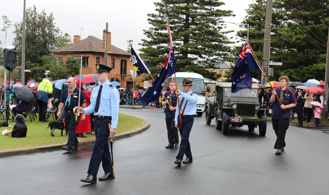 In Warrnambool for the Anzac Day service.