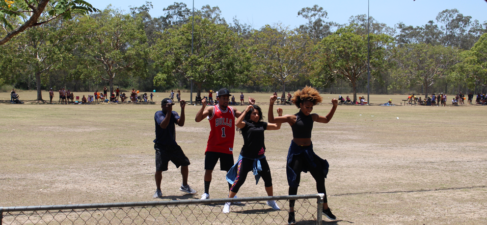 Hip hop dancers at the Living Strong Community Fun Day.