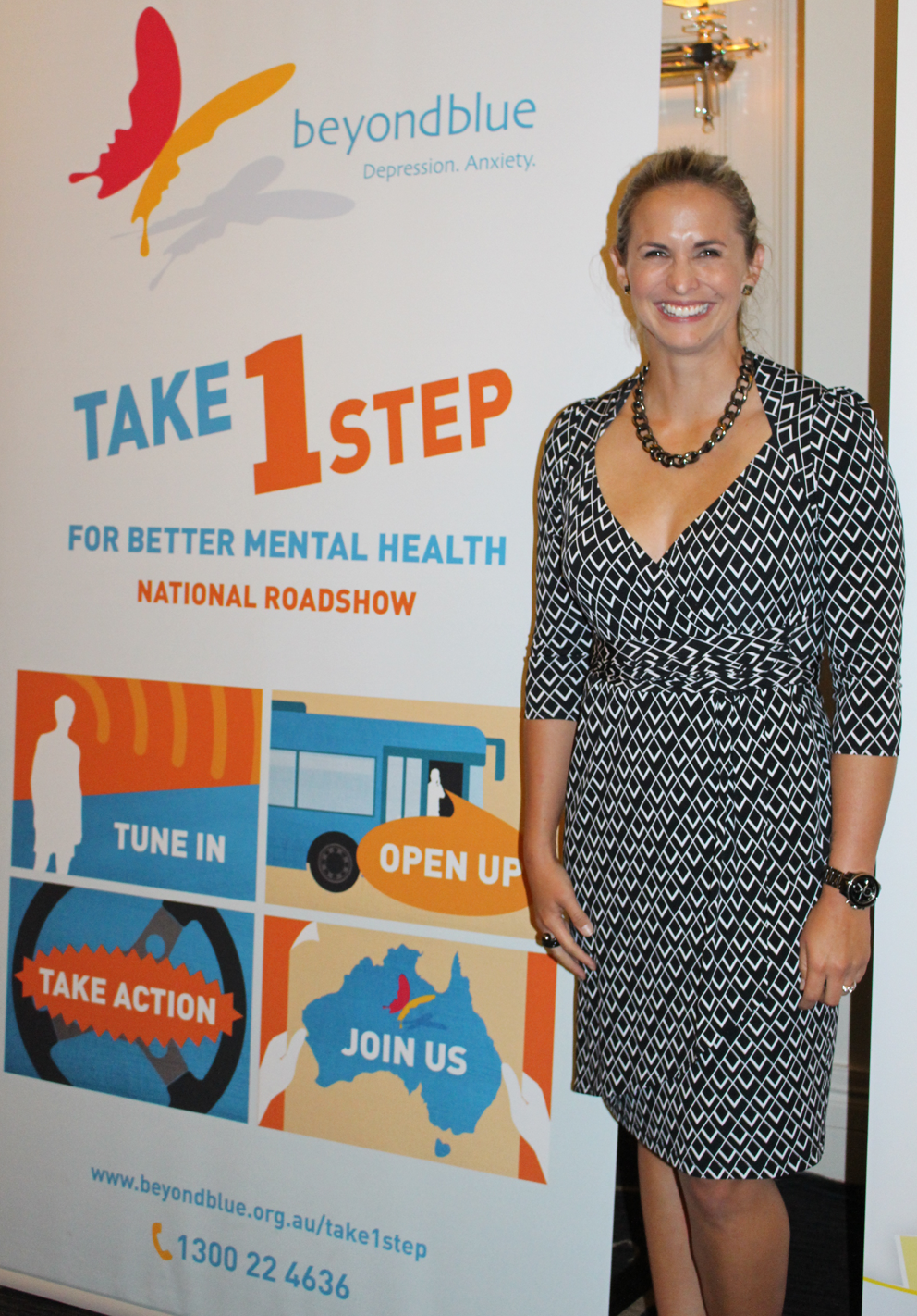 Libby Trickett was MC for the dinner with GPs and allied health professionals in Coorparoo.