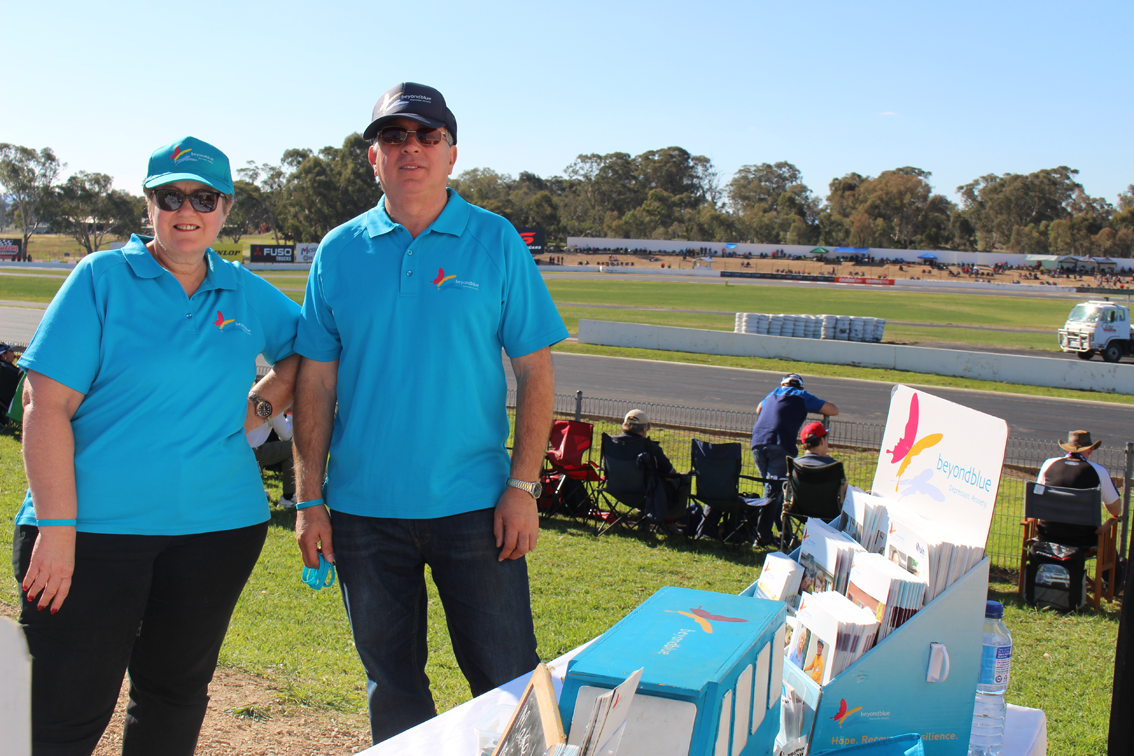 Trackside for the V8 Supercars Championship at Winton.
