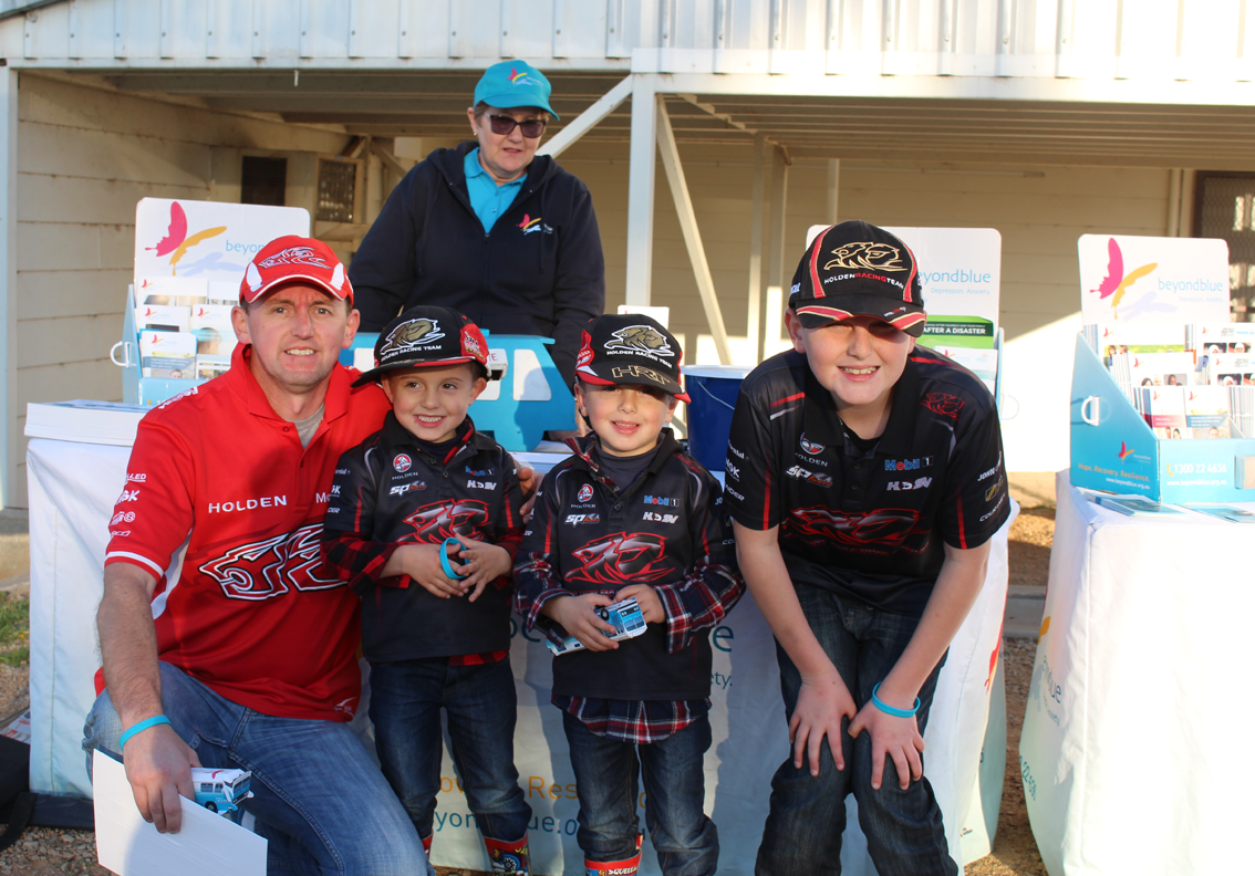 Family fun at Winton Raceway for the V8 Supercars Championship.