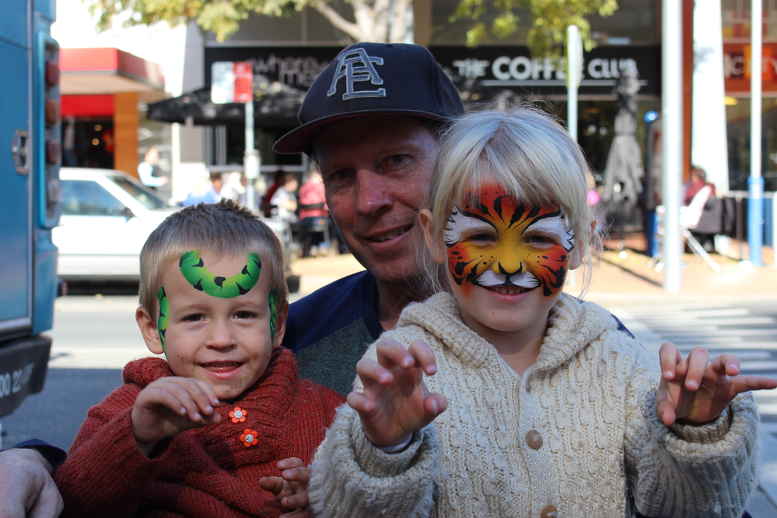 Face painting fun in Albury!