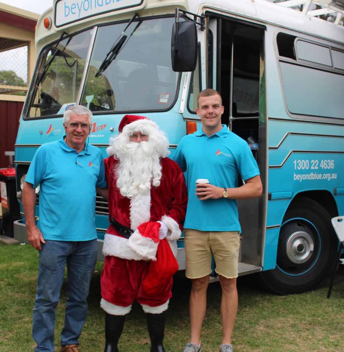 Santa dropped by the Lake Macquarie City Farmers Night Market.