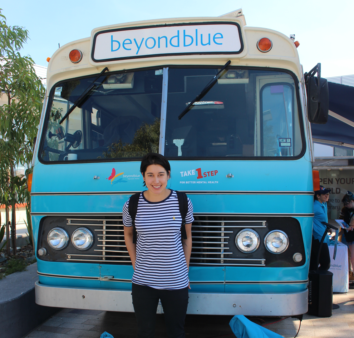 Beyond Blue Ambassador and Winter Olympian Belle Brockhoff dropped by between uni classes.