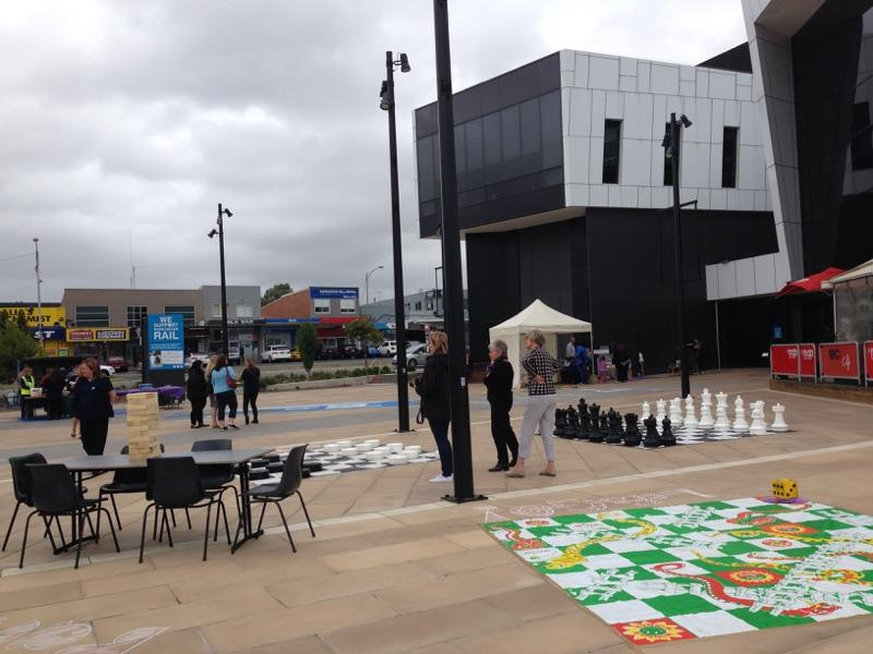 Giant games ready to play at Doncaster's MC2 Square.