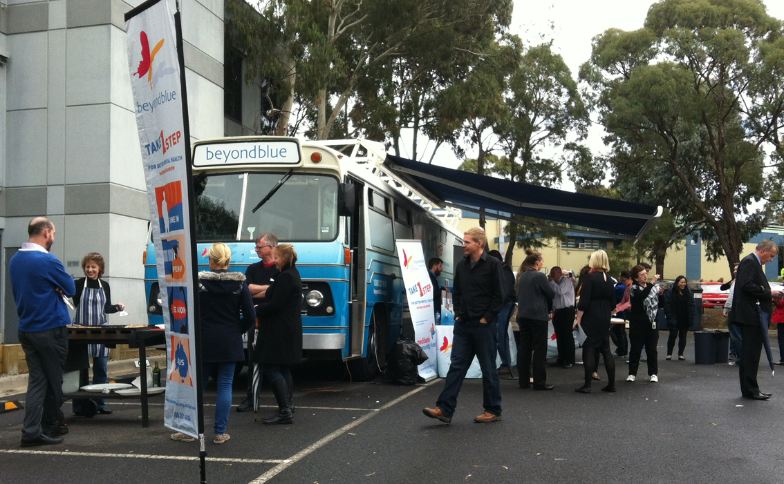 Cooking up a free BBQ at Tally Ho Business Park, Burwood East.