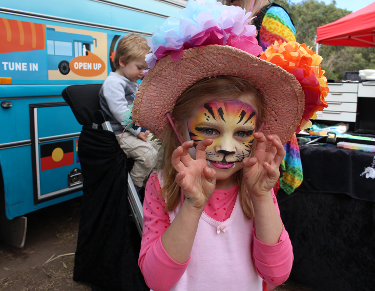 Wonderful face painting fun in Abbotsford.