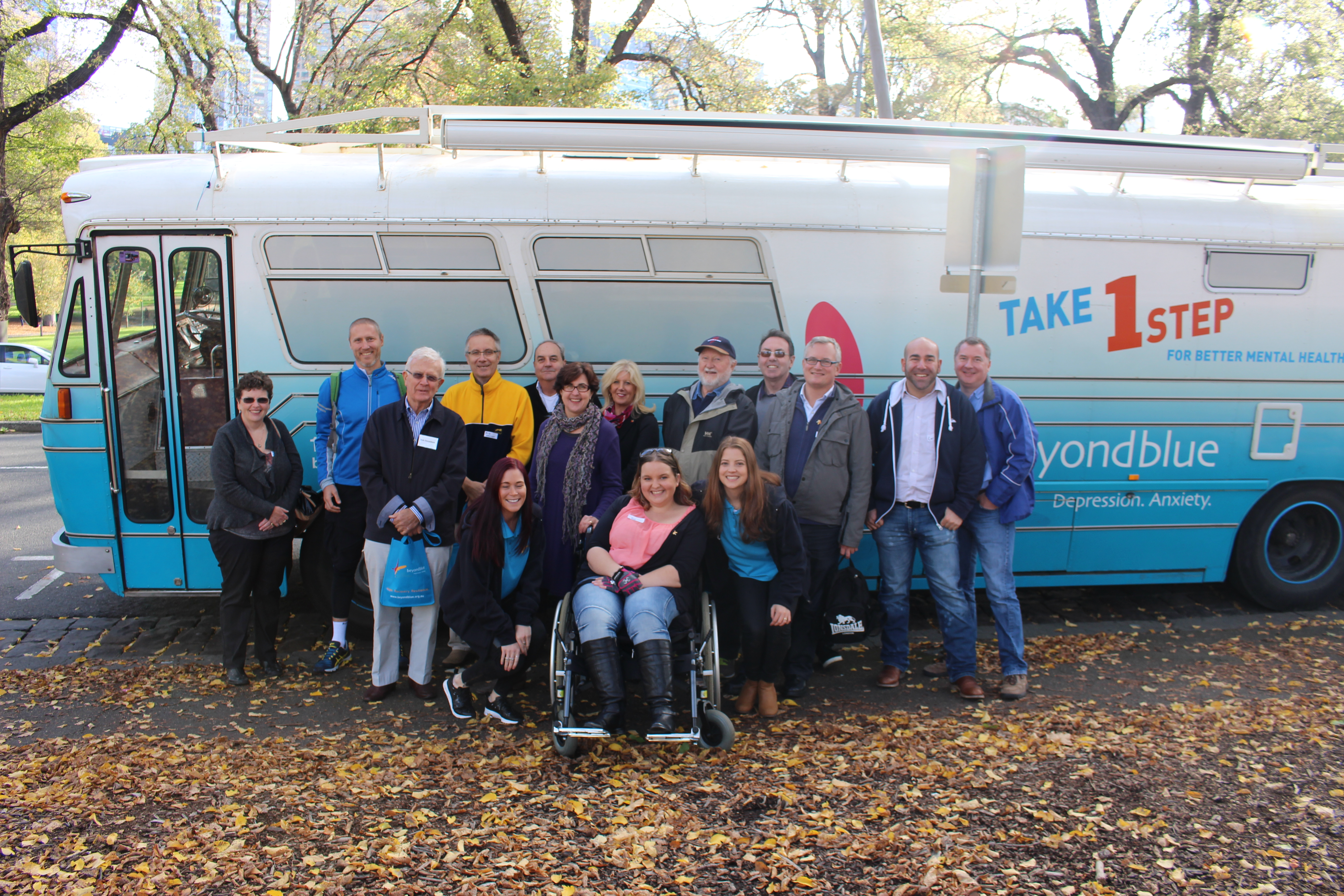 Catching up with members of blueVoices at Fitzroy Gardens.
