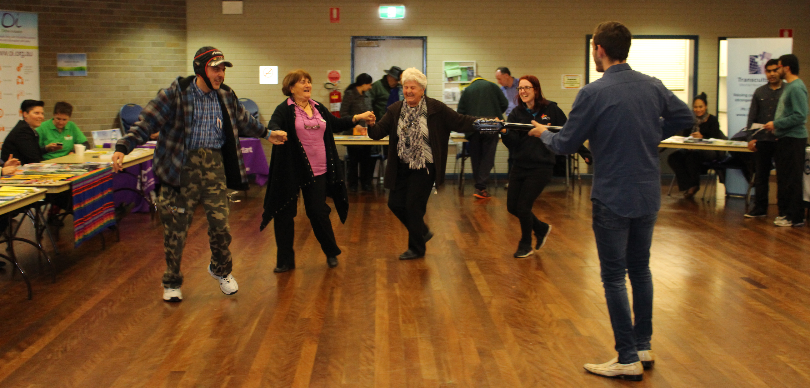 Traditional Greek dancing at Lakemba Senior Citizen's Centre.