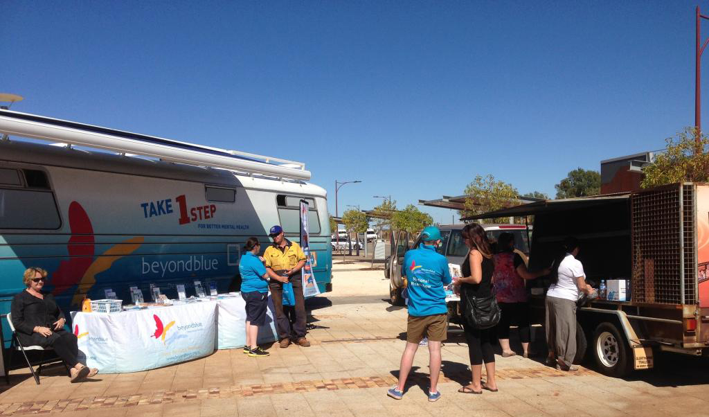 Under bright blue skies in South Hedland for a community barbecue.