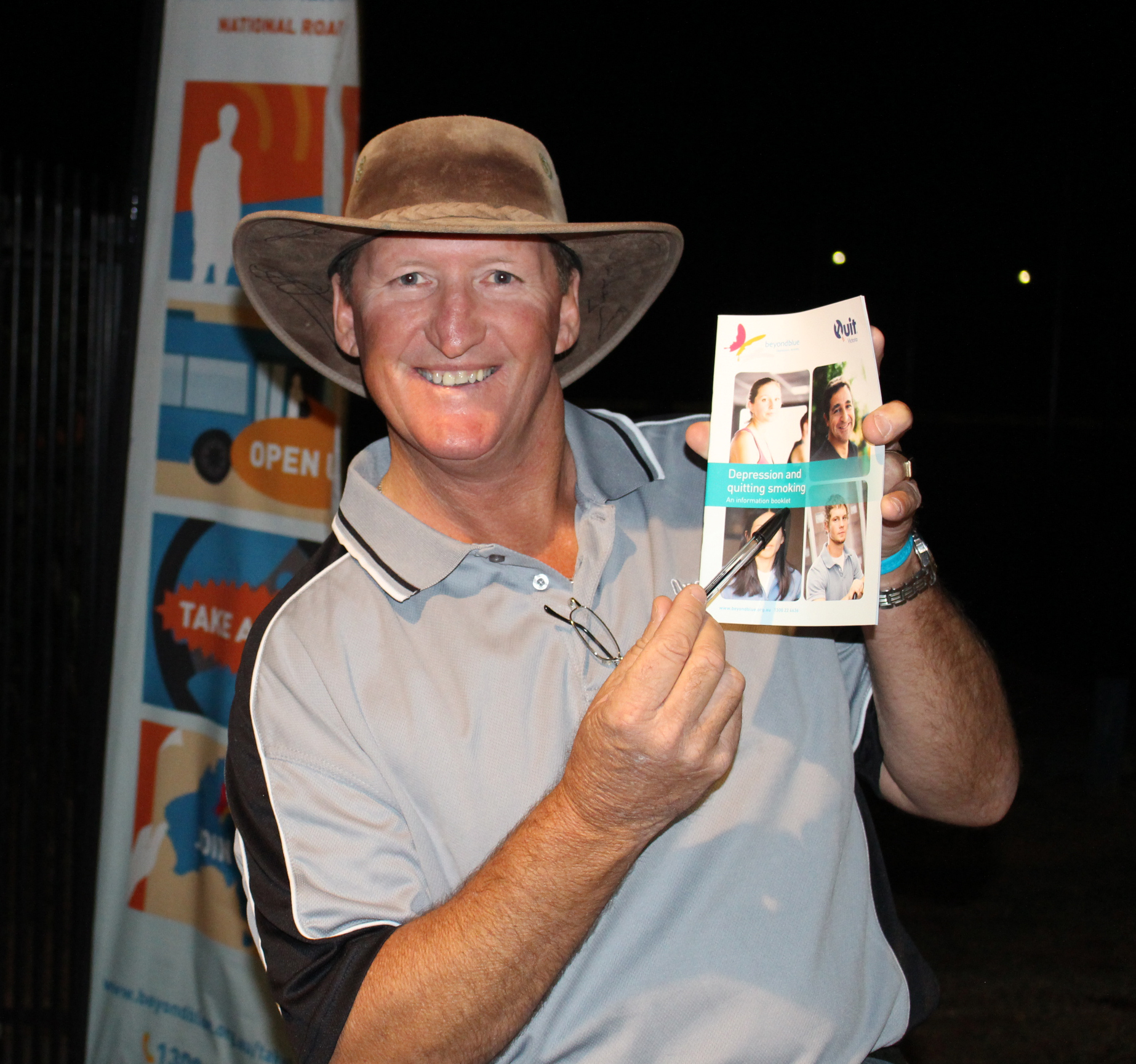 An Onslow local happy with the Beyond Blue resources.