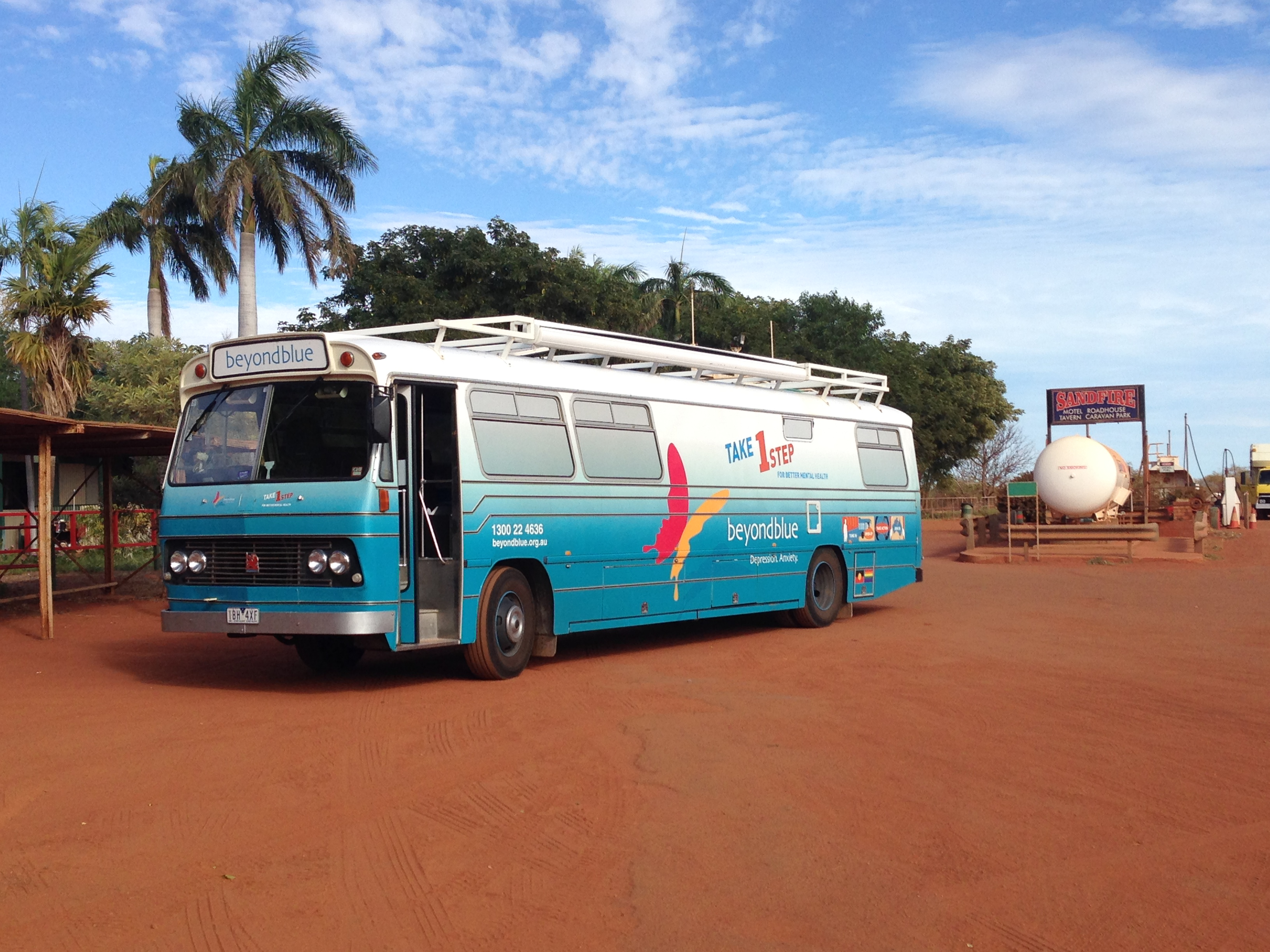 Departing Sandfire Roadhouse for the trip north to Broome.