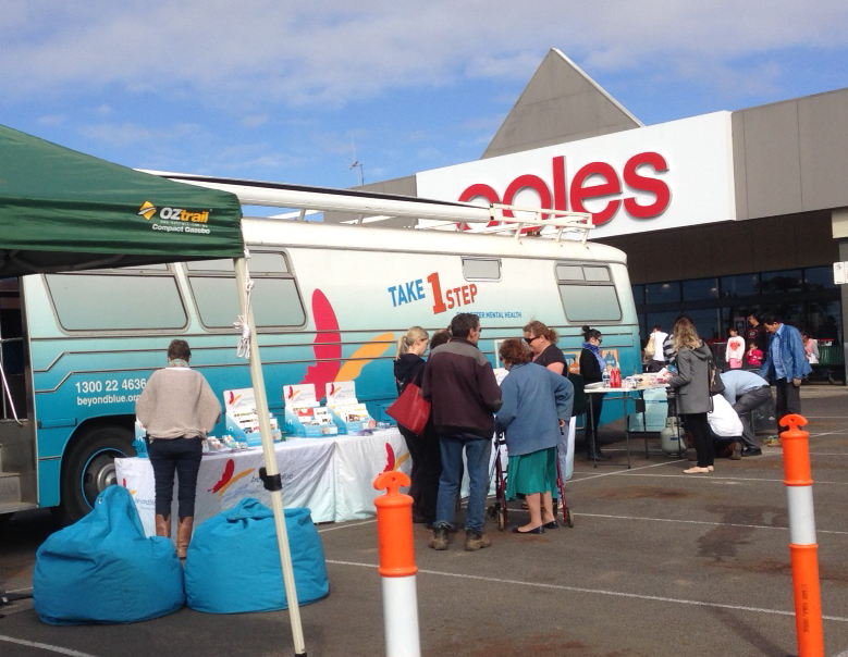 At Coles Swan Hill for a free community BBQ.