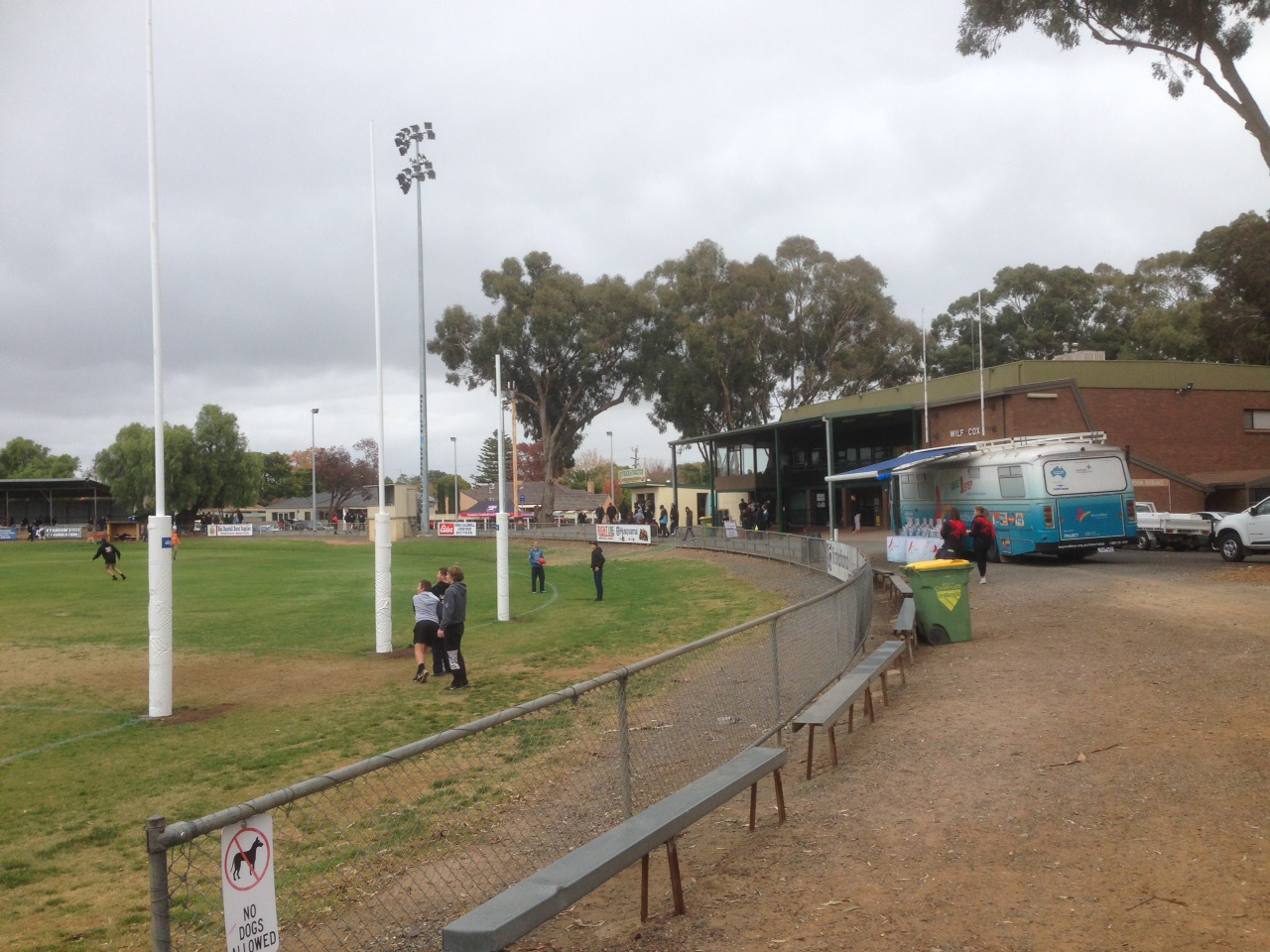At Kyabram Recreation Reserve for the GVFL clash between the Kyabram Bombers and Benalla Saints.
