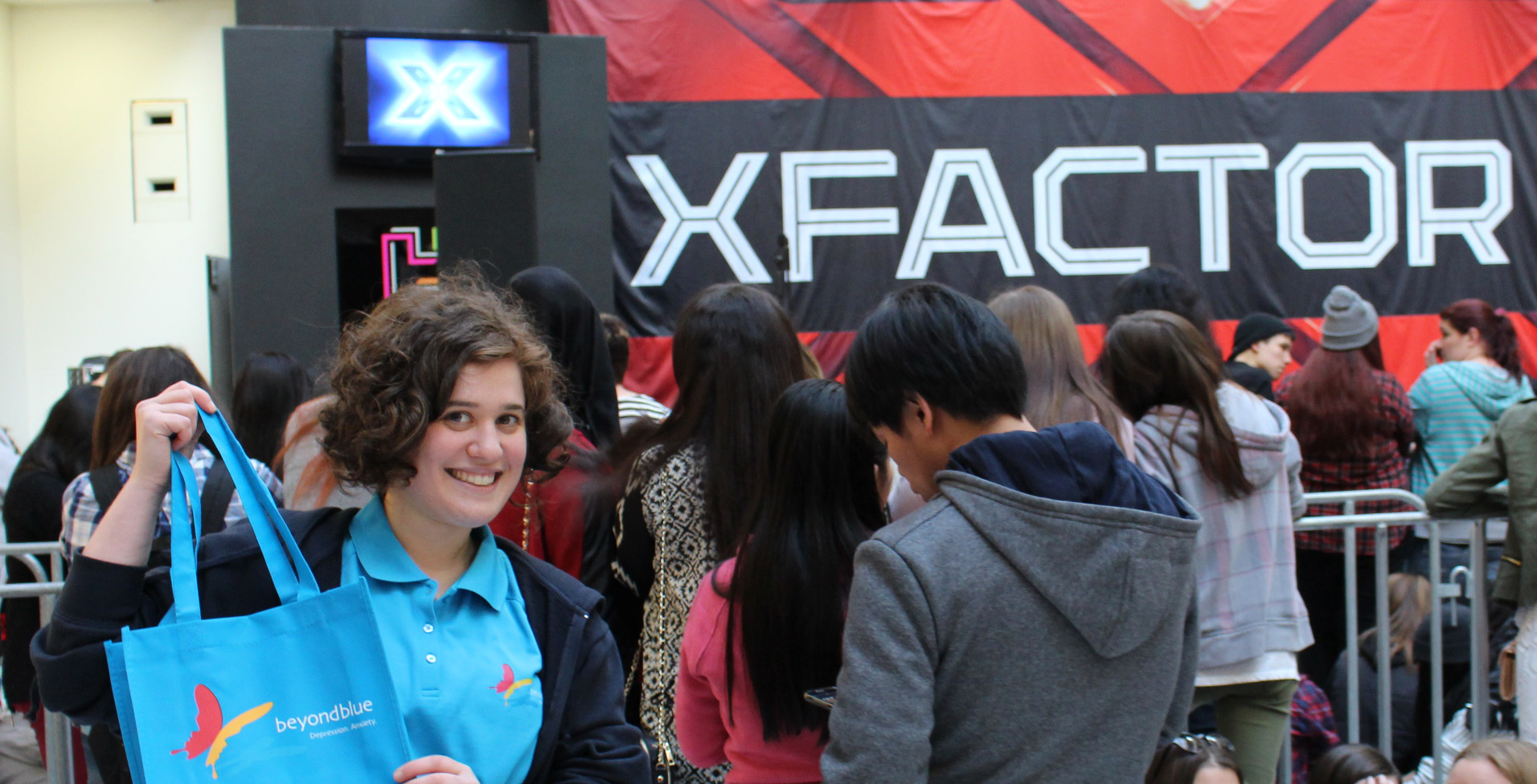 Bec steals the show, ahead of the X Factor live show at Highpoint Shopping Centre!