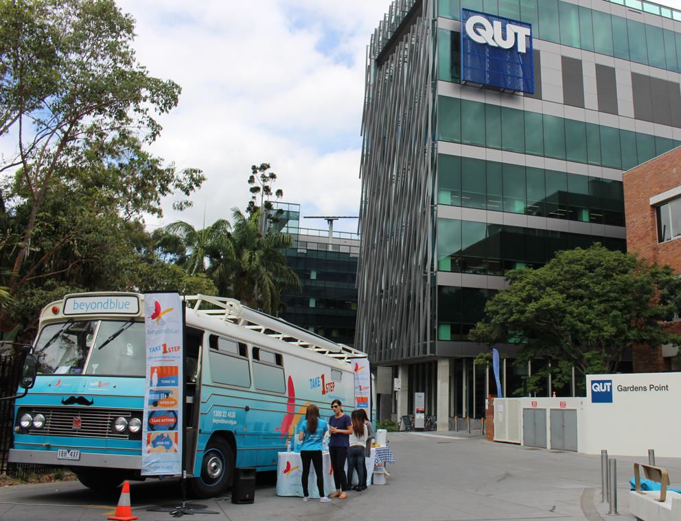 At the Gardens Point campus of QUT.