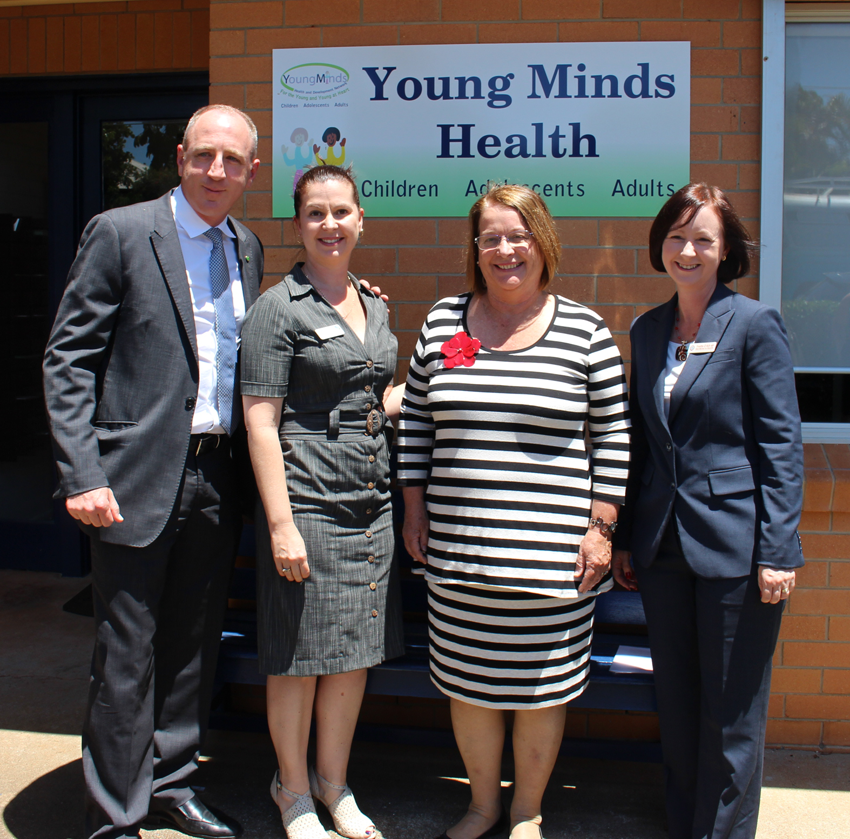 Federal Member for Petrie, Mr Luke Howarth MP (far left) and State Member for Redcliffe Yvette D'Ath (far right) were at the opening of the Young Minds Clinic in Redcliffe.