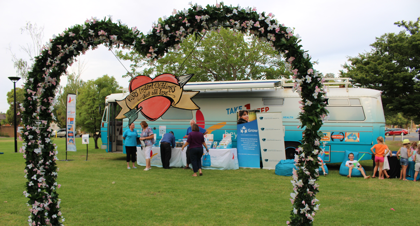The theme was 'Love' at Wagga's free Twilight by the Lagoon concert.