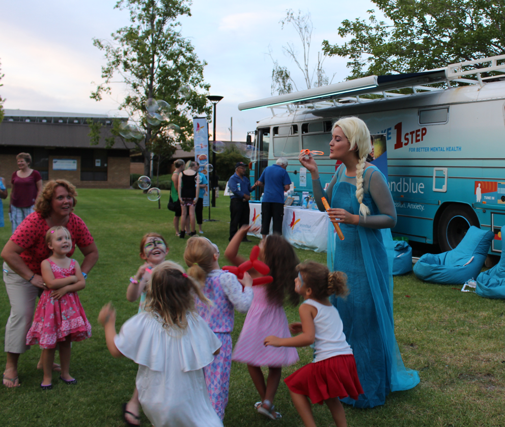 Elsa and her bubbles were popular in Wagga!