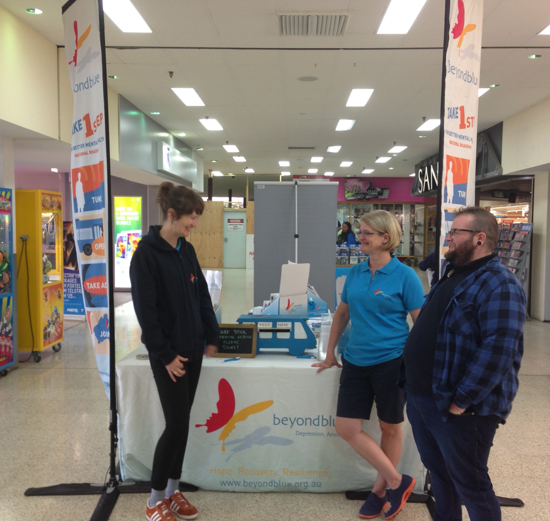 Chatting at Lithgow's Valley Plaza.