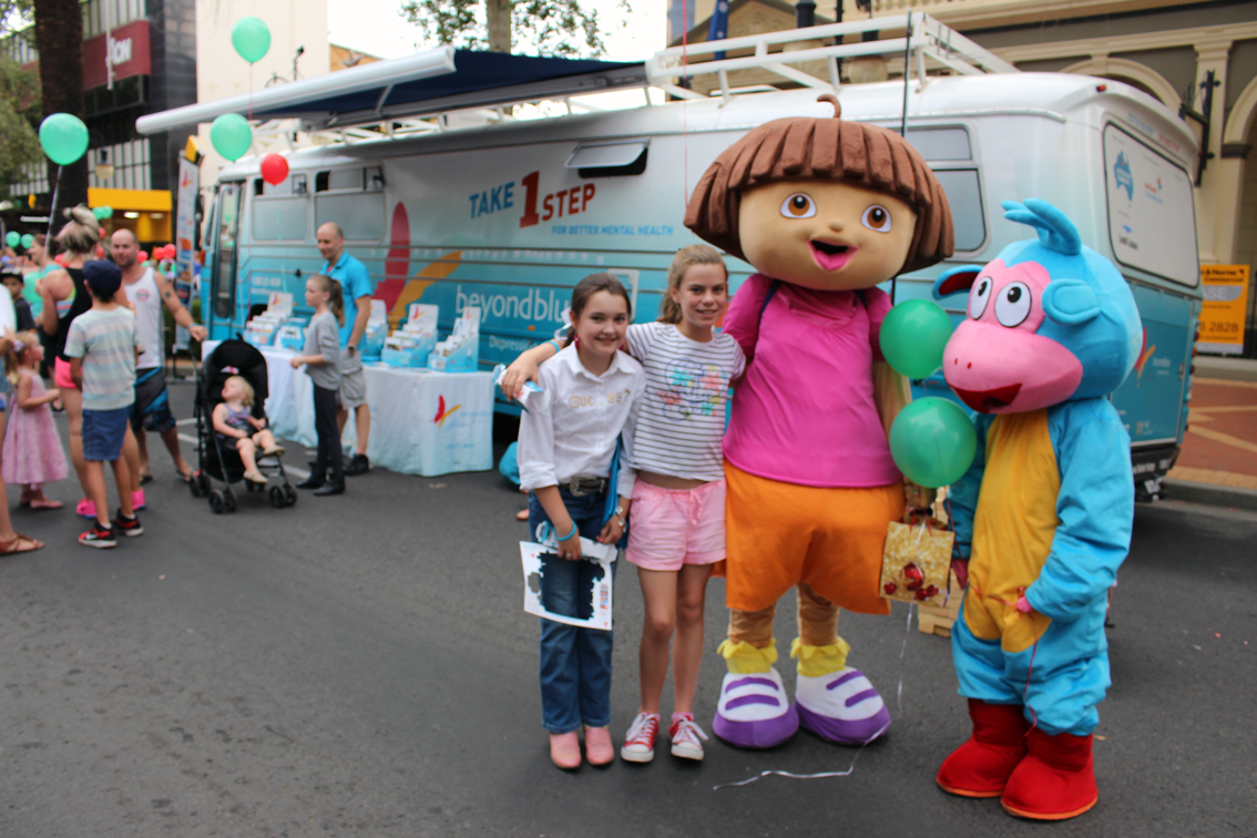 Dora the Explorer and Boots made an appearance in Tamworth.