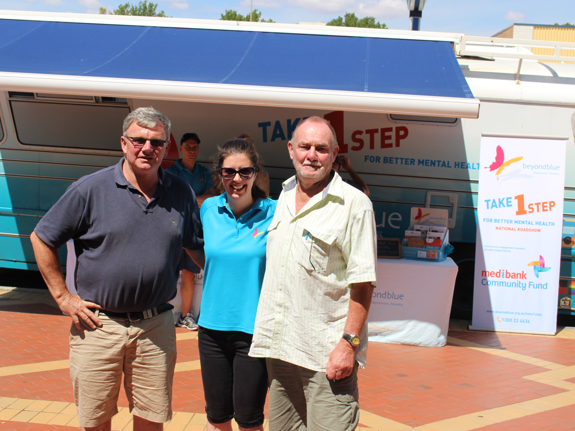 Meeting Beyond Blue supporters in Tamworth.