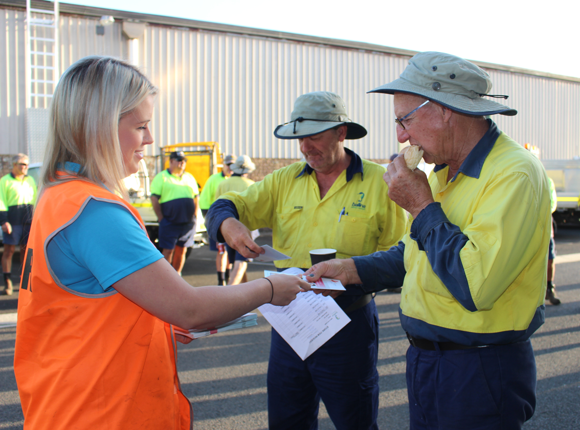 Providing resources to Ballina Council workers.