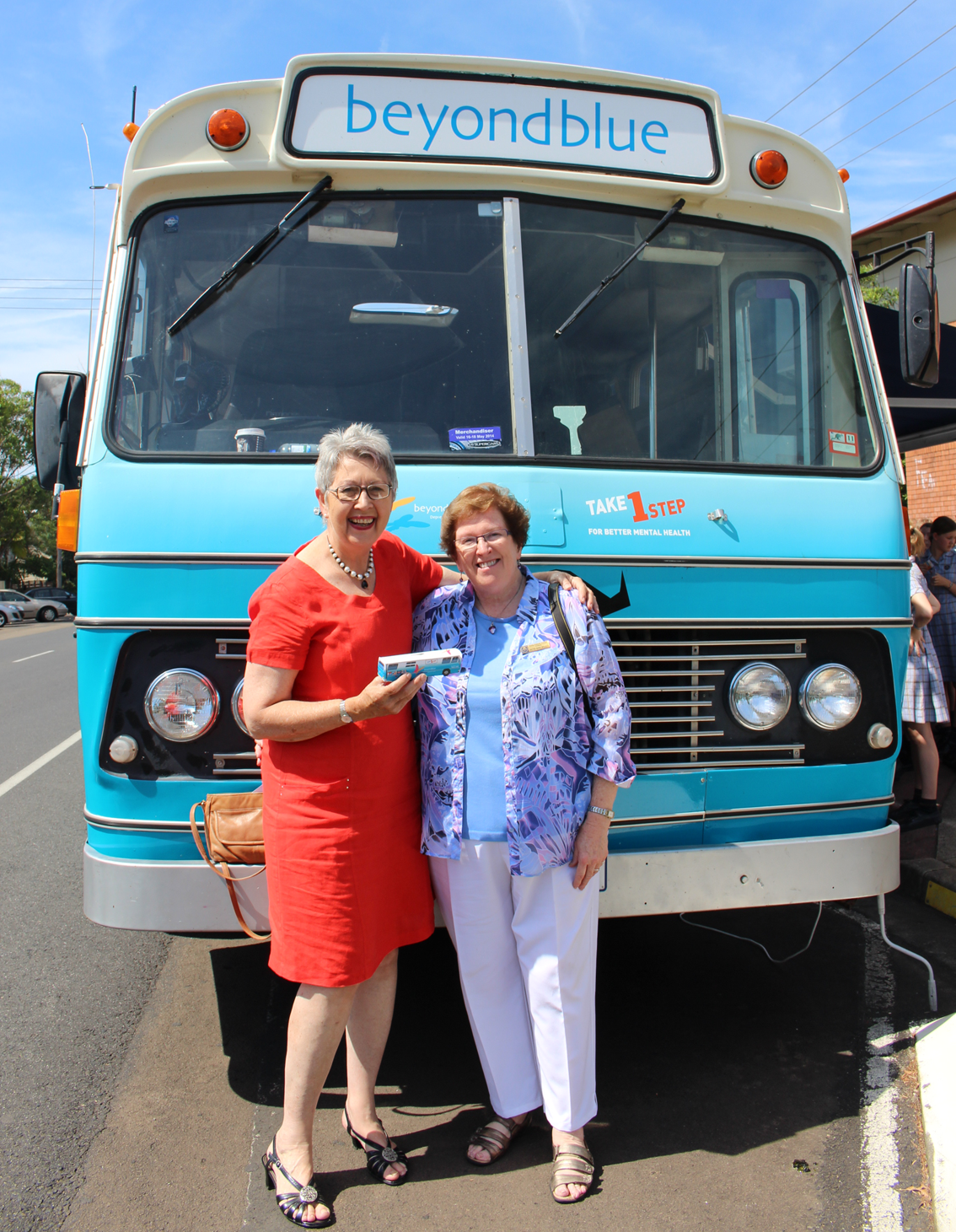 Lismore Mayor Jenny Dowell and Sister Mary Bruggy supporting our visit to Lismore.