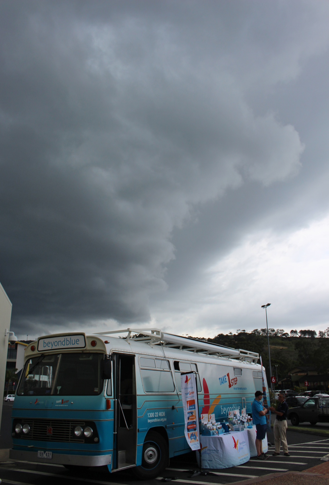 Storm approaches in Coffs Harbour.