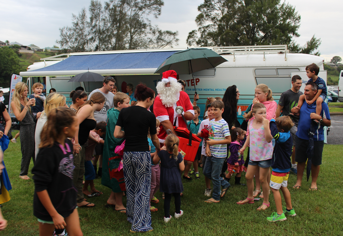 Santa receives a warm welcome in Kempsey.