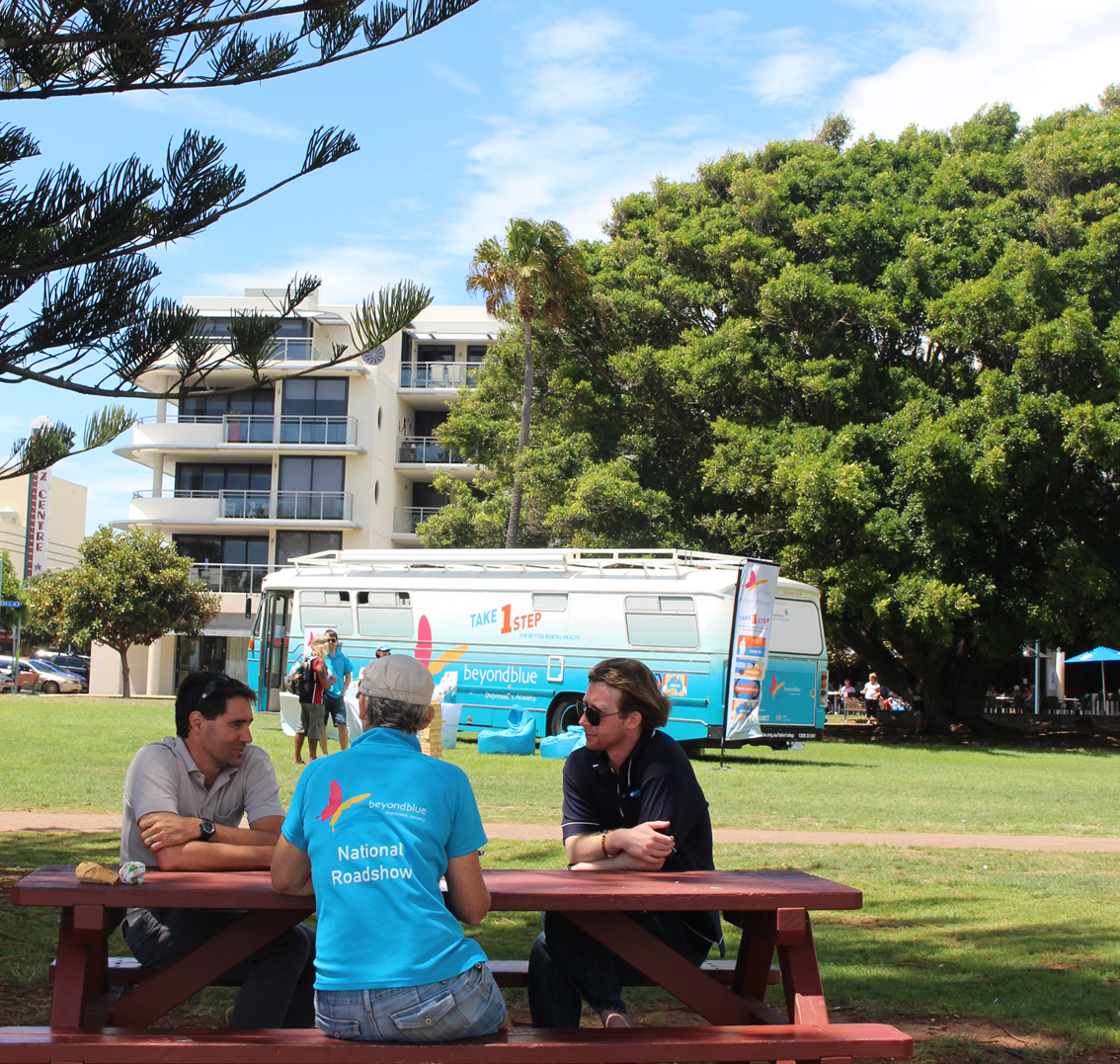 Chatting in Port Macquarie.