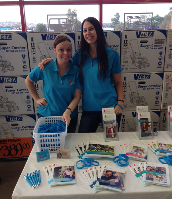 Wonderful Beyond Blue volunteers at Bunnings in Parafield.